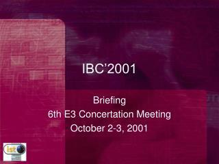 IBC'2001