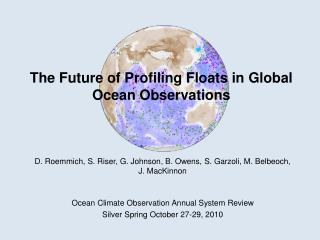 The Future of Profiling Floats in Global Ocean Observations