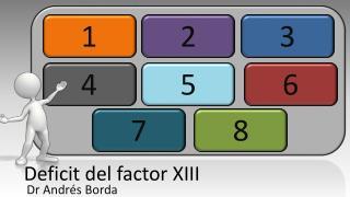Deficit del factor XIII