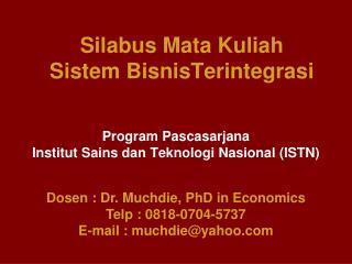 Silabus Mata Kuliah Sistem BisnisTerintegrasi