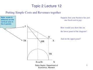 Topic 2 Lecture 12