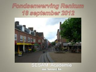 Fondsenwerving Renkum 18  september  2012