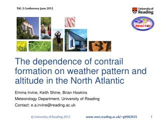 The dependence of contrail formation on weather pattern and altitude in the North Atlantic