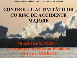 Inspectoratul  General  pentru Situaţii de Urgenţă