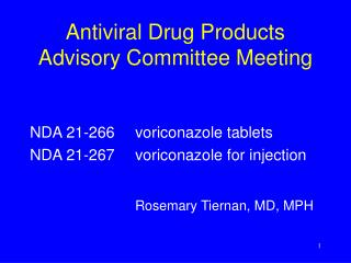 Antiviral Drug Products Advisory Committee Meeting
