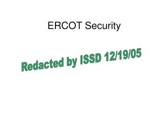 ERCOT Security