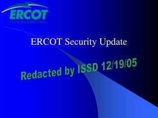 ERCOT Security Update