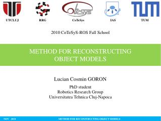 METHOD FOR RECONSTRUCTING  OBJECT MODELS