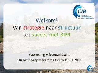 Welkom! Van  strategie naar structuur  tot  succes  met BIM