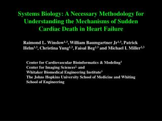 Center for Cardiovascular Bioinformatics & Modeling 1 Center for Imaging Sciences 2,  and