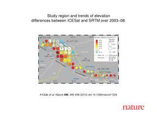 A Kääb  et al. Nature 488 , 495-498 (2012) doi:10.1038/nature11324