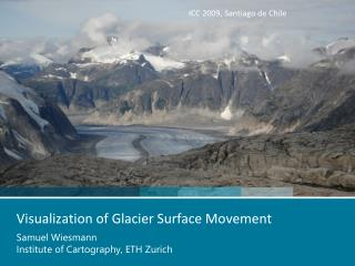 Visualization of Glacier Surface Movement