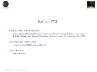 IceTop: PY2