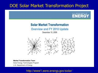 DOE Solar Market Transformation Project