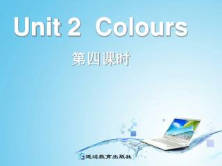 Unit 2  Colours
