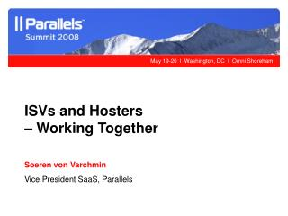 ISVs and Hosters  – Working Together