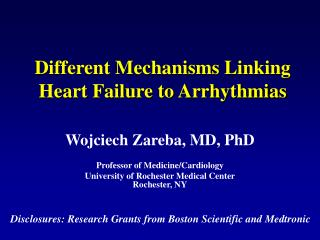 Different Mechanisms Linking Heart Failure to Arrhythmias