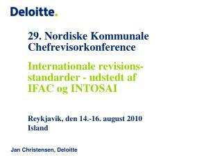 29. Nordiske Kommunale Chefrevisorkonference