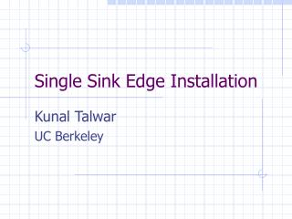 Single Sink Edge Installation