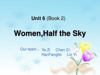 Unit 6  (Book 2)