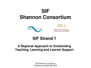SIF  Shannon Consortium