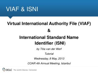 VIAF & ISNI