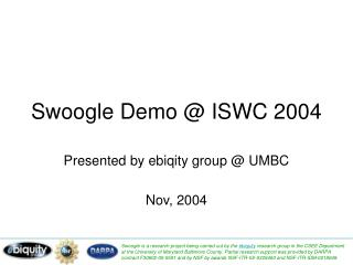 Swoogle Demo @ ISWC 2004