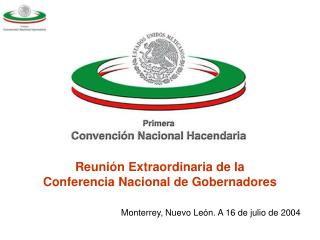 Reunión Extraordinaria de la Conferencia Nacional de Gobernadores