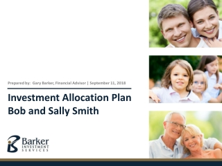 Investment Planning:   Asset Allocation and Risk Tolerance