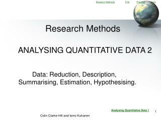 ANALYSING QUANTITATIVE DATA 2