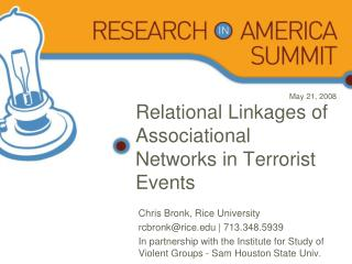 Relational Linkages of Associational Networks in Terrorist Events