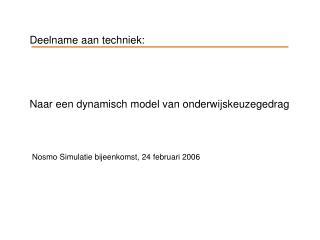 Deelname aan techniek: Naar een dynamisch model van onderwijskeuzegedrag