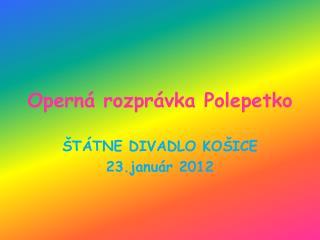 Operná rozprávka Polepetko