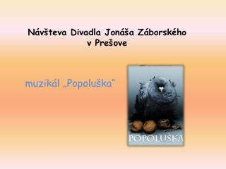 Návšteva Divadla Jonáša Záborského  v Prešove