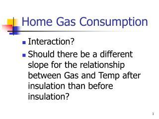 Home Gas Consumption