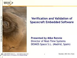 Verification and Validation of Spacecraft Embedded Software