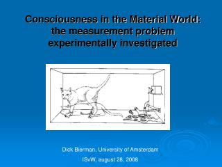 Consciousness in the Material World: the measurement problem experimentally investigated