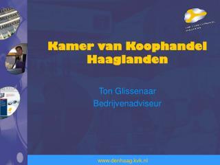 Kamer van Koophandel Haaglanden Ton  Glissenaar Bedrijvenadviseur