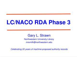 LC/NACO RDA Phase 3