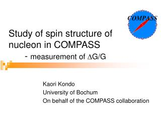 Study  of spin structure of  nucleon  in COMPASS 	-  measurement  of  ? G/G