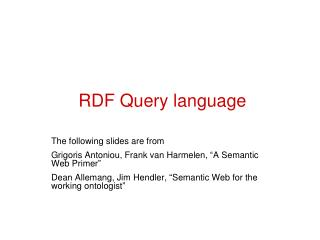 RDF Query language
