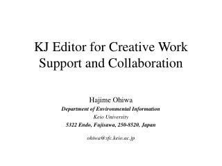 KJ Editor for Creative Work Support and Collaboration