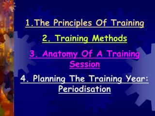1.The Principles Of Training
