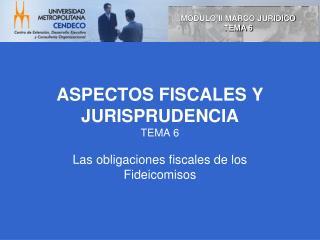 ASPECTOS FISCALES Y JURISPRUDENCIA TEMA 6