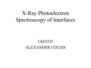 X-Ray Photoelectron Spectroscopy of Interfaces