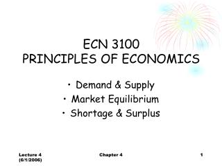 ECN 3100  PRINCIPLES OF ECONOMICS