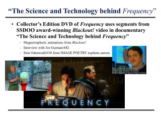 """The Science and Technology behind  Frequency """