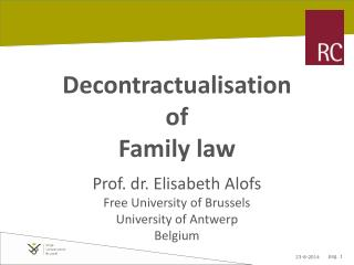 Decontractualisation  of  Family law