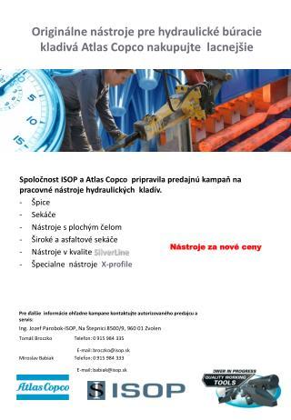 Originálne nástroje pre hydraulické búracie kladivá Atlas Copco nakupujte  lacnejšie