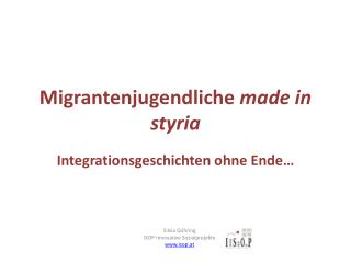 Migrantenjugendliche  made in styria